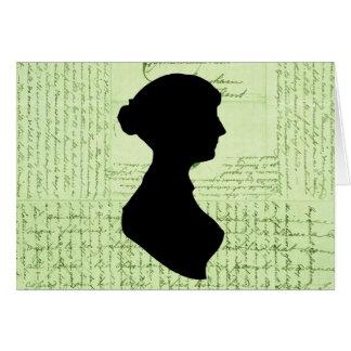 Jane Austen, me llama Letter de señora Jane CrissC Tarjeta De Felicitación