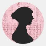 Jane Austen, me llama señora Jane Series Etiqueta Redonda