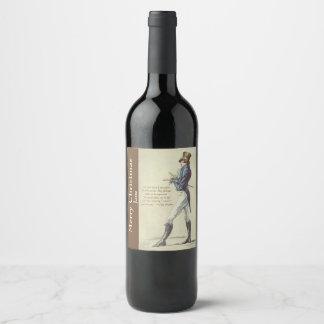 Jane Austen Mr. Darcy Personalized Wine Label