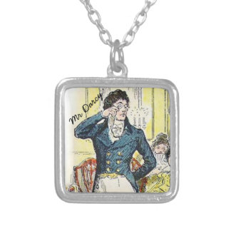 Jane Austen Mr Darcy Silver Plated Necklace