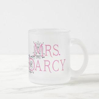 Jane Austen Mrs Darcy Gift Frosted Glass Coffee Mug