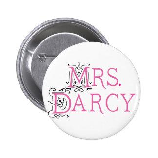 Jane Austen Mrs Darcy Gift Pinback Button
