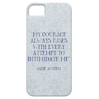 Jane Austen My Courage Always Rises Intimidate Me iPhone SE/5/5s Case