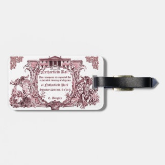 Jane Austen: Netherfield Ball Invite Luggage Tag