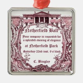 Jane Austen Netherfield Ball Invite Christmas Ornaments