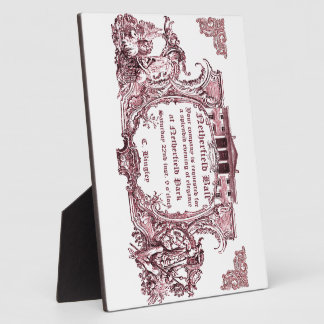 Jane Austen: Netherfield Ball Invite Display Plaques