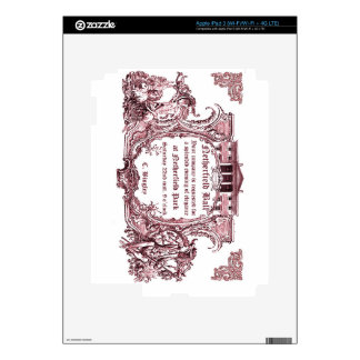 Jane Austen: Netherfield Ball Invite Decal For iPad 3