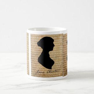 Jane Austen Page Silhouette Coffee Mug