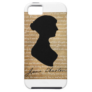 Jane Austen Page Silhouette iPhone 5 Covers