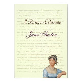 Jane Austen Party Birthday Celebration Quotes 5x7 Paper Invitation Card