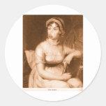 Jane Austen Pegatinas Redondas