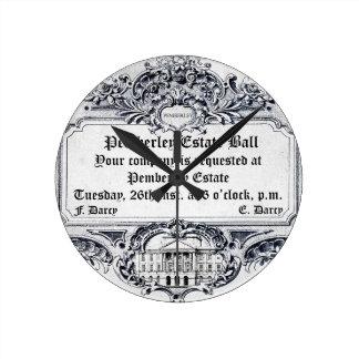 Jane Austen: Pemberley Estate Ball Clock