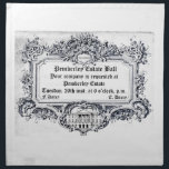 "Jane Austen: Pemberley Estate Ball Cloth Napkin<br><div class=""desc"">""Your company is requested at Pemberley Estate Ball!"" Flaunt your personal invite to the Pemberley Estate from the Darcy's on Tuesday the 26th to everyone you know with this exquisite Regency Letter design! It also features the Pemberley house in the Estate Letterhead. Perfect for all Jane Austen fans! Are you...</div>"