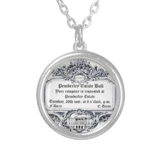 Jane Austen: Pemberley Estate Ball Round Pendant Necklace