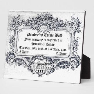 Jane Austen: Pemberley Estate Ball Display Plaques