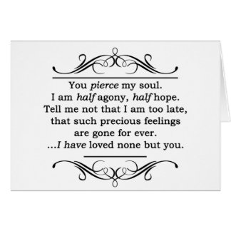 Jane Austen Persuasion Quote Greeting Card