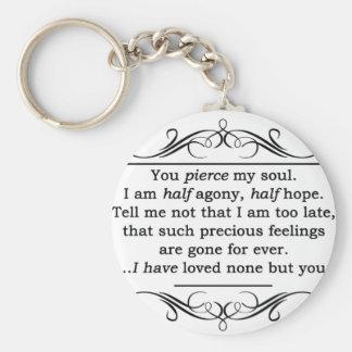 Jane Austen Persuasion Quote Keychain