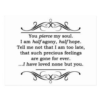 Jane Austen Persuasion Quote Postcard