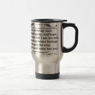 Jane Austen Persuasion Quote Travel Mug