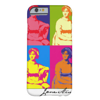 Jane Austen Pop Art Barely There iPhone 6 Case