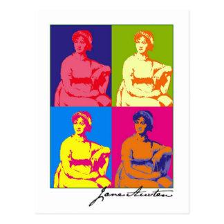 Jane Austen Pop Art Postcard