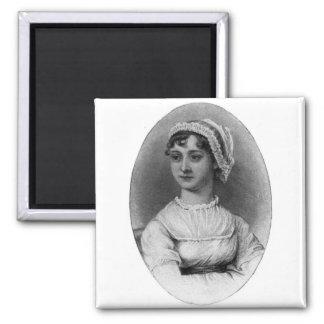Jane Austen Portrait 2 Inch Square Magnet