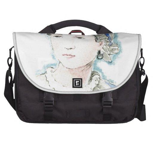 Jane Austen Portrait by Alice Flynn Computer Bag