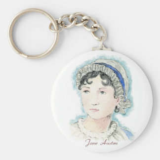 Jane Austen Portrait by Alice Flynn Keychain