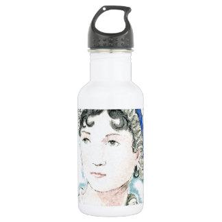 Jane Austen Portrait by Alice Flynn Water Bottle