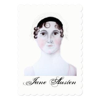 Jane Austen portrait watercolor card. Card