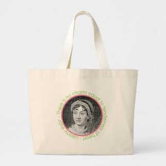 Jane Austen Portrait With Quote Large Book Bag