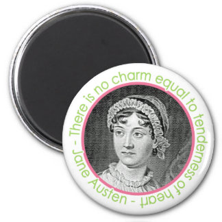 Jane Austen Portrait With Quote Magnet