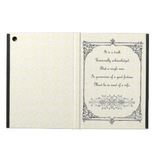 Jane Austen Pride and Prejudice First Line Quote iPad Air Cases