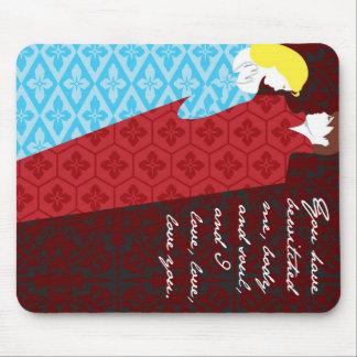 "Jane Austen Pride and Prejudice gift ""Elizabeth"" Mouse Pad"