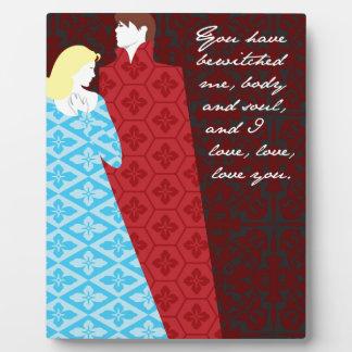 "Jane Austen Pride and Prejudice gift ""Elizabeth"" Display Plaques"