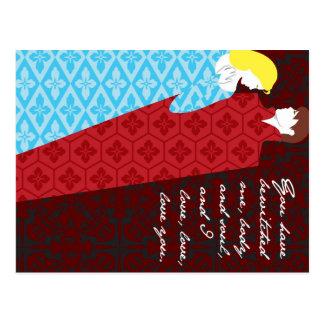 "Jane Austen Pride and Prejudice gift ""Elizabeth"" Post Card"