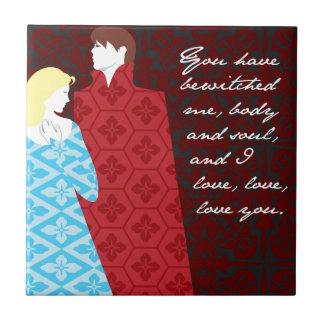 "Jane Austen Pride and Prejudice gift ""Elizabeth"" Tile"