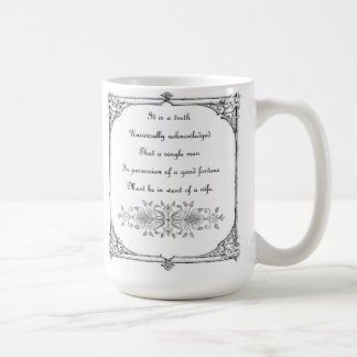 Jane Austen Pride and Prejudice Inspiration Coffee Mug