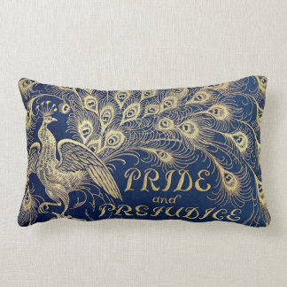 Jane Austen Pride and Prejudice Peacock Lumbar Lumbar Pillow