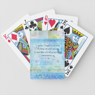 Jane Austen Pride and Prejudice Quote Bicycle Playing Cards