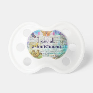Jane Austen Pride and Prejudice Quote Pacifier