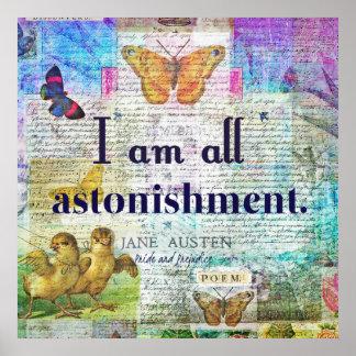 Jane Austen Pride and Prejudice Quote Poster