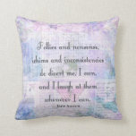 Jane Austen, Pride and Prejudice whimsical quote Pillow