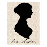 Jane Austen profile silhouette Postcard