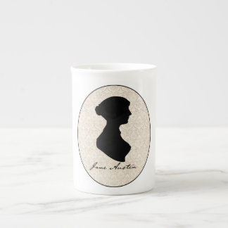 Jane Austen profile silhouette Tea Cup