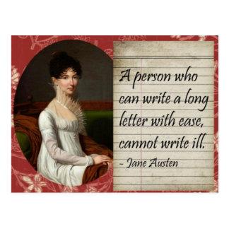 Jane Austen que escribe diseño inspirado Tarjetas Postales
