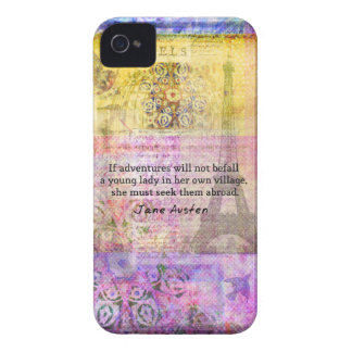 Jane Austen quote about adventure and travel iPhone 4 Covers