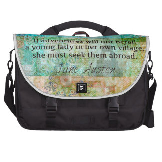 Jane Austen quote about adventure and travel Bags For Laptop