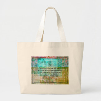 Jane Austen quote about adventure and travel Large Tote Bag