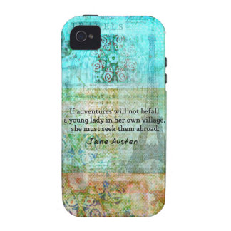 Jane Austen quote about adventure and travel Vibe iPhone 4 Case
